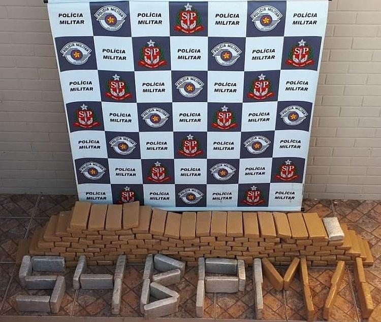 Polícia Militar de Itararé apreende carga com mais de 130 Kg de entorpecentes