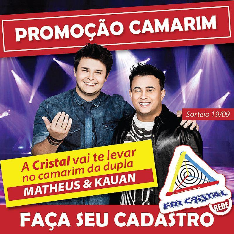 Promoção Camarim Matheus e Kauan